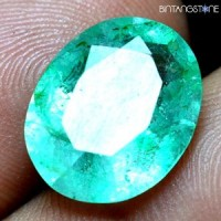 Certified Emerald Green Beryl Colombia Muzo Mozo Natural 7.0 Ct Zamrud Columbia Sertifikat GGL