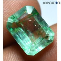 Certified Emerald Green Beryl Colombia Muzo Mozo Natural 6.45 Ct Zamrud Columbia Sertifikat GGL