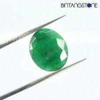 Certified Emerald Brazil 4.55 Cts Natural Zamrud Beryl Untreatment Sertifikat