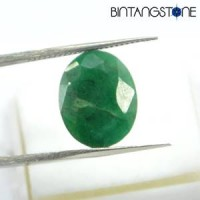 Natural Emerald Brazil Beryl 6.2 Cts Zamrud Untreatment Sertifikat Earth Mined