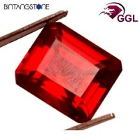 Certified GGL Red Ruby 13.95 Ct Natural Africa Batu Merah Delima Asli Sertifikat Body Glass Clarity VVS IF