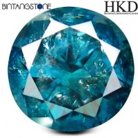 Diamond 0.49 Ct Blue Diamond HKD Certified Natural Berlian Asli Sertifikat Canada
