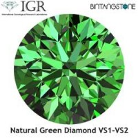 Diamond Green Diamond VS 1.5 Mm 0.015 Cts Certified IGR Natural Africa Berlian Hijau Asli Sertifikat ID1226