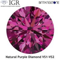 Diamond Purple Diamond VS 1.5 Mm 0.015 Cts Certified IGR Natural Africa Berlian Asli Sertifikat ID1221