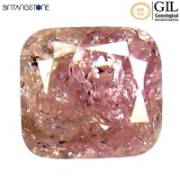 Diamond 0.35 Ct Pink Diamond GIL Certified Natural Berlian Asli Sertifikat Canada