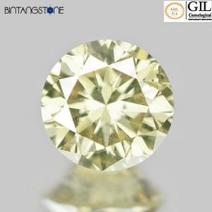 Diamond 0.15 Ct Fancy Yellow Diamond GIL Certified Natural Berlian Asli Sertifikat Canada