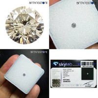 Diamond Certified Colorless White Diamond 2.60 mm 0.08 Cts Natural Berlian Putih Asli Africa Memo SKYLab 4058