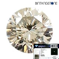 Diamond Certified Colorless White Diamond 2.60 mm 0.08 Cts Natural Berlian Putih Asli Africa Memo SKY LAB Indonesia 4058