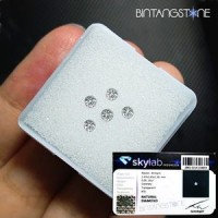 Diamond Certified Colorless White Diamond 2.47 mm 0.06 Cts Natural Berlian Putih Asli Africa Memo SKY LAB Indonesia 4059