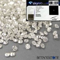 Diamond Colorless White Diamond 1.5 mm 1 Pcs Natural Clarity Si-i Berlian Putih Africa Asli Memo