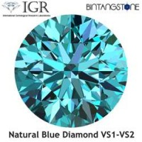 Diamond Blue Diamond 1.6 mm Clarity VS Certified By IGR Natural Africa Berlian Biru Aslli Sertifikat ID1223