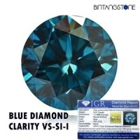 Diamond Natural Blue Diamond 1.2-1.3 mm VS-I Berlian Biru Tabur Asli Africa Cutting Mess Eropa