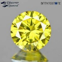 Diamond Yellow Diamond VVS Clarity 2.01 Mm 0.035 Cts Natural Certified Berlian Kuning Africa Asli Sertifikat
