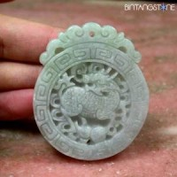 Certified Jade Jadeite China Grade B Memo SKY LAB INDONESIA Natural Pendant Dragon Kai Lun