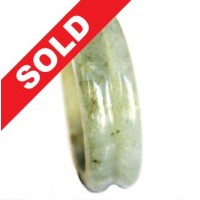 Cincin Giok Natural Grade A Jade Hand Carved Ring 574