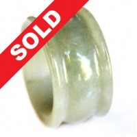 Cincin Giok Natural Grade A Jade Hand Carved Ring 575