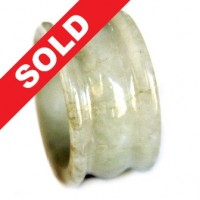 Cincin Giok Natural Grade A Jade Hand Carved Ring 581
