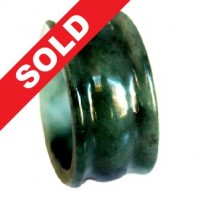 Cincin Giok Natural Grade A Jade Hand Carved Ring 588