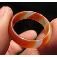 Cincin Natural Red Jade Xiu Jade Ring Giok China