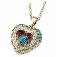 Kalung Swarovski - Zircon Heart 9K Rose Gold Filled