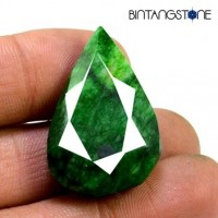 Emerald Brazil Bi-Color Green-Yellow 54 Ct Big Size Natural Loose Pear Cut
