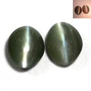 Alexandrite Chrysoberyl Cats Eye Color Change Berubah Warna VVS 0.53 Ct - 2 pcs Ceylon Sri Lanka ID884