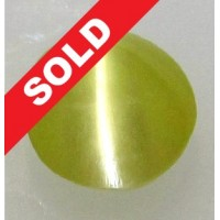 Chrysoberyl Cat's Eye 0.47 Ct Natural CEYLON SRILANKA SHARP LINE Untreated