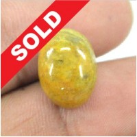Yellow Beryl 11.40 Cts Natural Zamrud Kuning Sertifikat Earth Mined