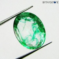 Certified Emerald Mozo Muzo Colombia 6.9 Ct Best Quality IF Clarity Natural Zamrud Sertifikat GSL