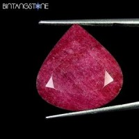 Certified GSL Natural Blood Red Ruby Africa 17.75 Ct Heart Shape Asli Corundum Sertifikat