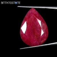 Certified GSL Natural Blood Red Ruby Africa 23.65 Ct Pear Shape Asli Corundum Sertifikat