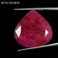 Certified GSL Natural Blood Red Ruby Africa 23.00 Ct Heart Shape Asli Corundum Bersertifikat