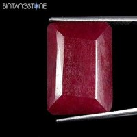 Certified GSL Natural Blood Red Ruby Africa 19.90 Ct  Emerald Shape Asli Corundum Bersertifikat