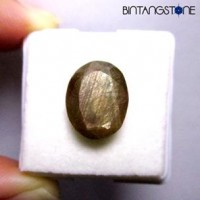 Certified GSL 8.35 Ct Natural Golden Brown Sapphire Langka Untreatment Sertifikat