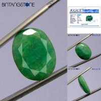 Emerald Brazil 12.35 Ct Cutting Facet KGCL Certified Batu Cincin Natural Zamrud Beryl Memo ID03