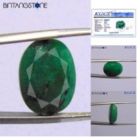 Emerald Brazil 11.15 Ct Cutting Facet KGCL Certified Batu Cincin Natural Zamrud Beryl Memo ID05