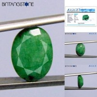 Emerald Brazil 7.25 Ct Cutting Facet KGCL Certified Batu Cincin Natural Zamrud Beryl Memo ID08