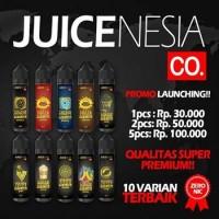 VAPE JUICENESIA E-Juice Liquid PREMIUM 60 ML NON NIC ZERO NICOTINE Rokok Elektrik LEGAL BERIZIN RESMI