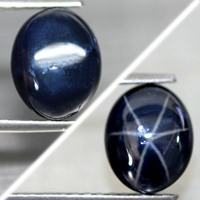 Blue Star Sapphire 4.78 Ct Natural 6 Ray