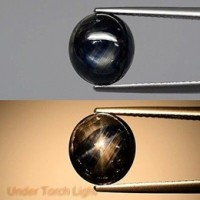 Blue Star Sapphire 5.83 Ct Natural 6 Ray -Unheated-Untreated